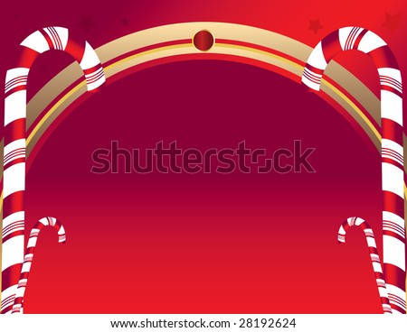 Candy cane background 4 - jpg version - stock photo