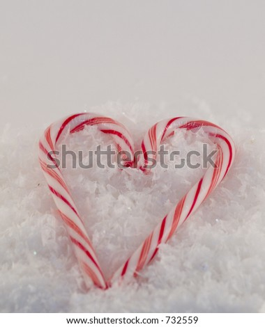 Candy Cane Heart - stock photo