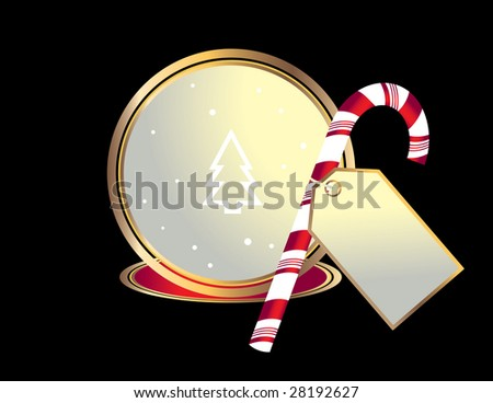 Candy cane image - jpg version - stock photo