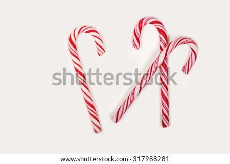 Candy cane isolated - stock photo
