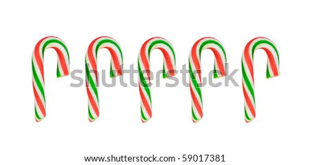 candy cane on white background