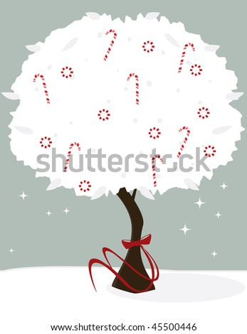 Candy cane tree - jpg version - stock photo