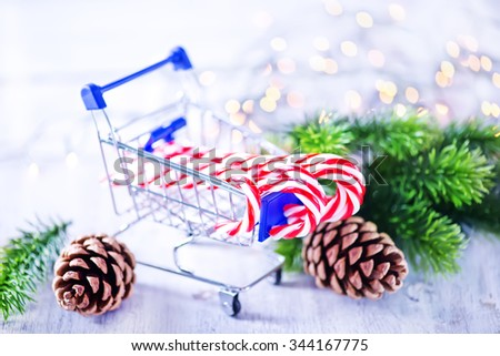 candy canes - stock photo