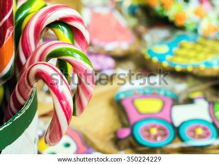 Candy canes and other holiday sweets