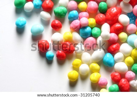 Candy close up on white background - stock photo