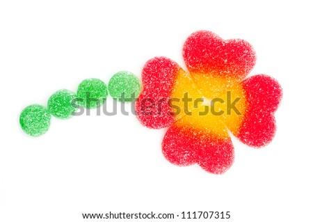 Candy cloverleaf / shamrock - stock photo