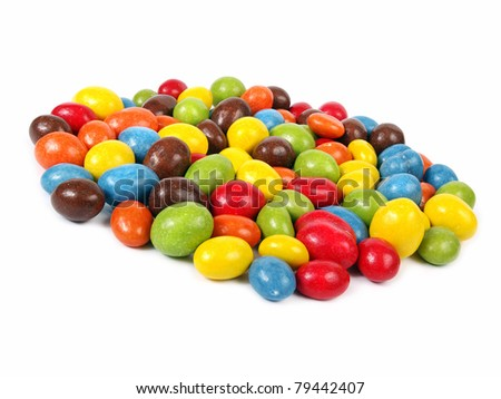Candy - colorful chocolate peanuts - stock photo
