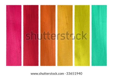 candy colors coconut paper banner set