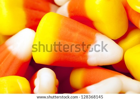 Candy corn kernel. - stock photo