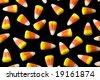 Candy Corn Pattern on Black - stock photo