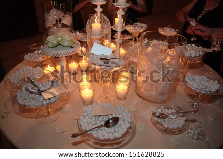 candy for wedding - stock photo