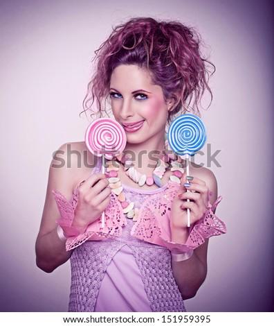 candy girl / mmmh - stock photo