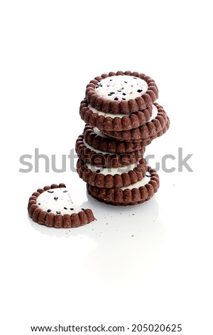 Candy, heap. Crispy, yummy cookies on the table - stock photo