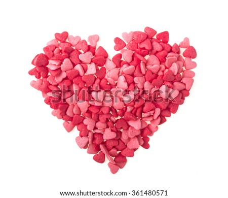 Candy Hearts isolated. Valentine's Day - stock photo