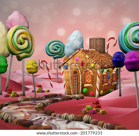 Candy land - stock photo