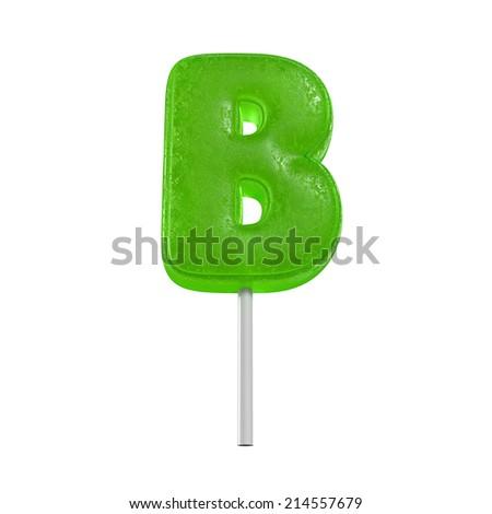 candy lolly pop alphabet - stock photo