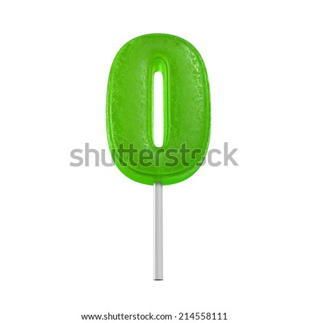 candy lolly pop number - stock photo