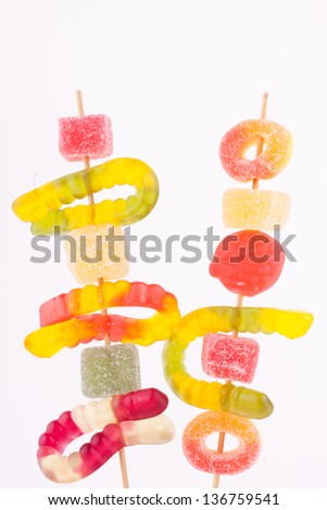 candy skewer - stock photo