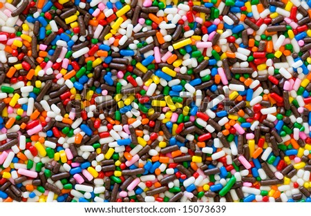 candy sprinkles - background - stock photo