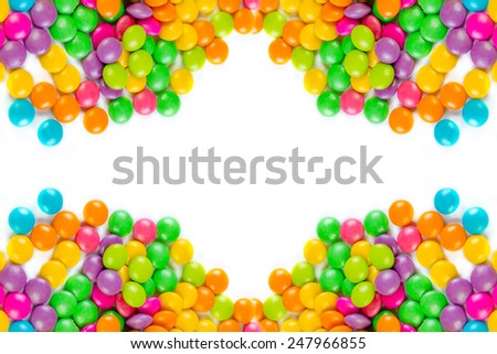candy sweet color on white background - stock photo
