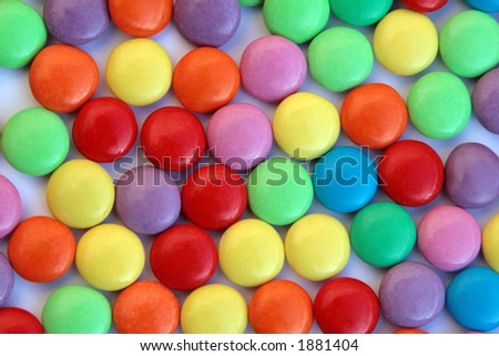 Candy swirl - smarties - stock photo