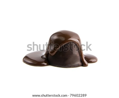 candys in a chocolate on a white background - stock photo