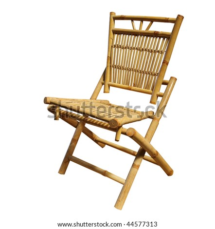 Cane Chair isolated with clipping path