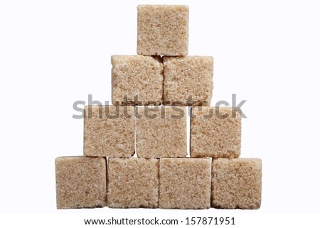 cane sugar cube. - stock photo
