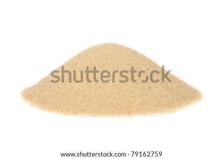Cane sugar hill isolated on white - stock photo