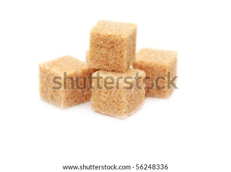 Cane-sugar isolated on a white background