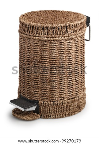 cane trashcan - stock photo