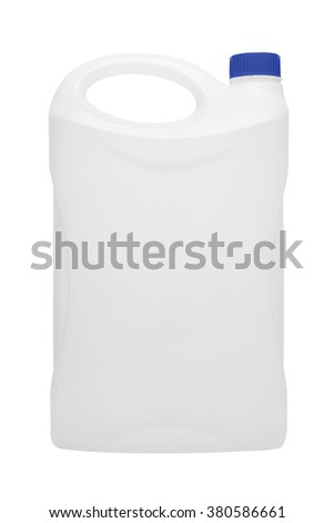 Canister isolated on white background - stock photo