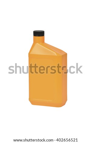 Canister with engine oil  - stock photo