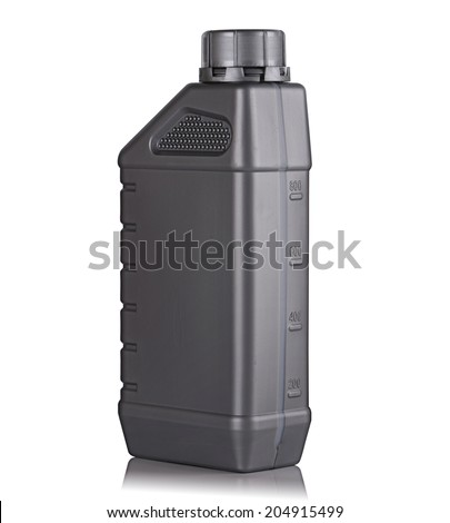 Canister with machine oil - stock photo