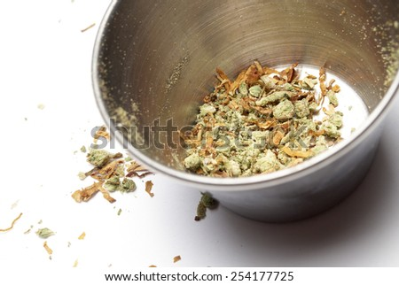 Cannabis Bud, Marijuana on White