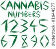 cannabis numbers against white background, abstract art illustration; for vector format please visit my gallery - stock vector