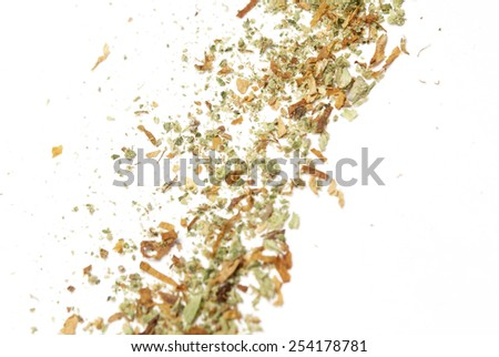 Cannabis on White Background, Marijuana