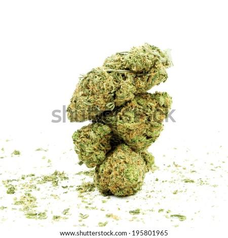 Cannabis Plant Bud, Marijuana  - stock photo