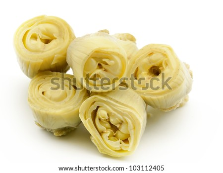 Canned artichokes - stock photo