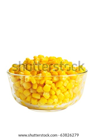 Canned corn - stock photo