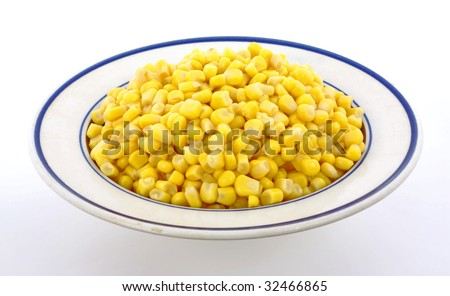 Canned corn bowl - stock photo