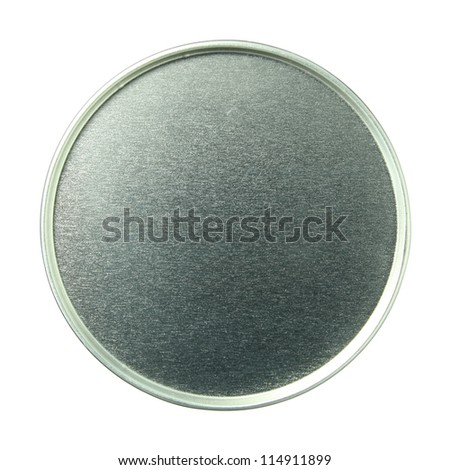 canned food isolated on white background with clipping path - stock photo