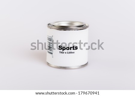 Canned sport with white background. - stock photo