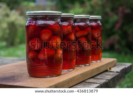 canned stewed strawberries