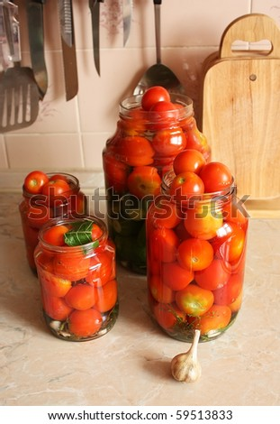 Canned tomatoes - stock photo