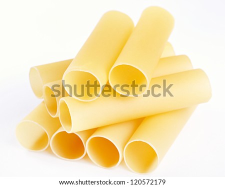 Cannelloni - the Italian paste in the form of large tubules - stock photo