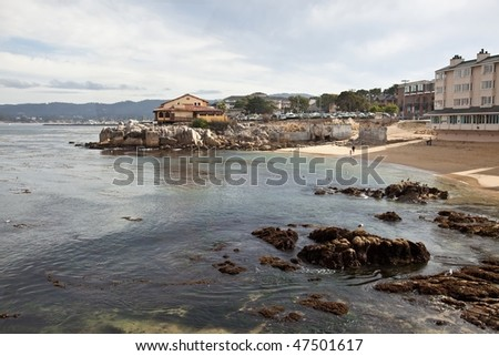 Cannery Row is the waterfront street in the New Monterey section of Monterey, California - stock photo