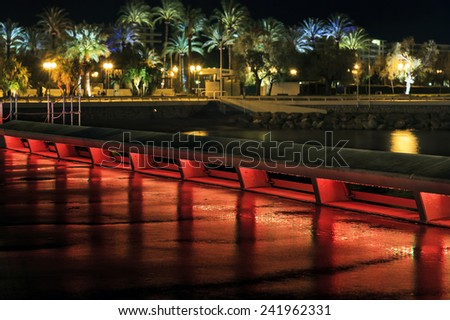 Cannes Croisette by night	 - stock photo