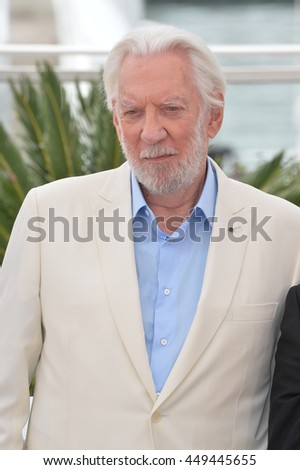 CANNES, FR - MAY 11, 2016: Actor Donald Sutherland at the photocall for the Jury at the 69th Festival de Cannes.