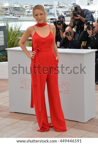 "CANNES, FR - MAY 11, 2016: Actress Blake Lively at the photocall for ""Cafe Society"" at the 69th Festival de Cannes."